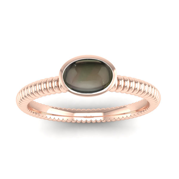 Fairtrade Rose Gold PROMISE Smoky Quartz Stacking Ring (available now) - Jeweller's Loupe