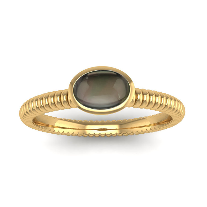 Fairtrade Gold PROMISE Smoky Quartz Stacking Ring - Jeweller's Loupe