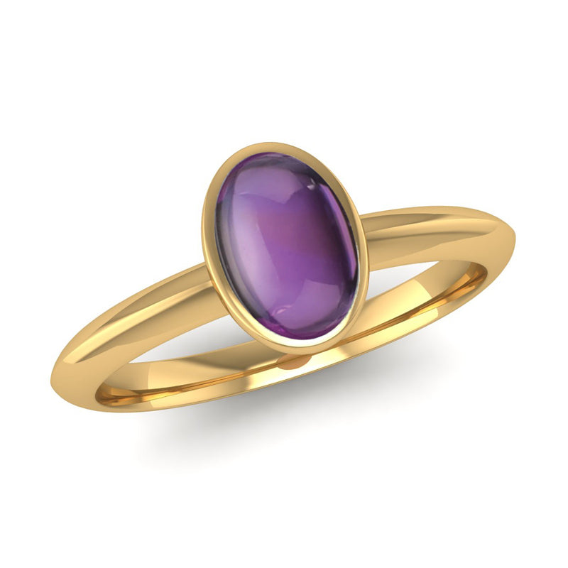 Fairtrade Gold DESIRE Amethyst Stacking Ring - Jeweller's Loupe
