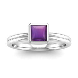 Fairtrade Gold TRUST Amethyst Stacking Ring (available now) - Jeweller's Loupe
