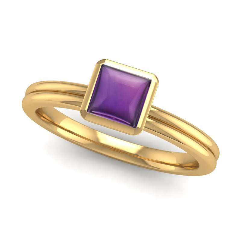 Fairtrade Gold TRUST Amethyst Stacking Ring - Jeweller's Loupe