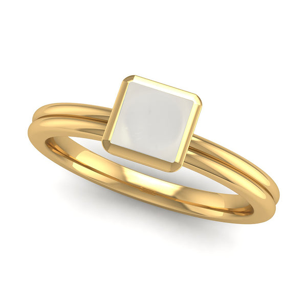Fairtrade Gold TRUST Crystal Quartz Stacking Ring - Jeweller's Loupe