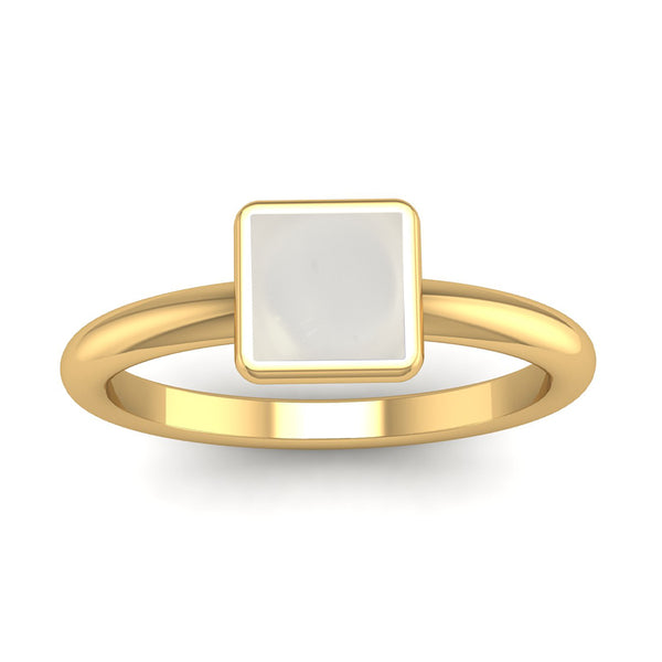 Fairtrade Gold BELIEVE Crystal Quartz Stacking Ring - Jeweller's Loupe