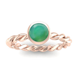Fairtrade Gold DREAM Agate Stacking Ring - Jeweller's Loupe