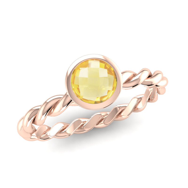 DREAM Citrine Twist Stacking Ring - Jeweller's Loupe