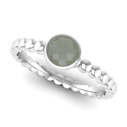 Fairtrade Silver FAITH Green Amethyst Stacking Ring - Jeweller's Loupe