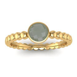 Fairtrade Gold FAITH Green Amethyst Stacking Ring - Jeweller's Loupe