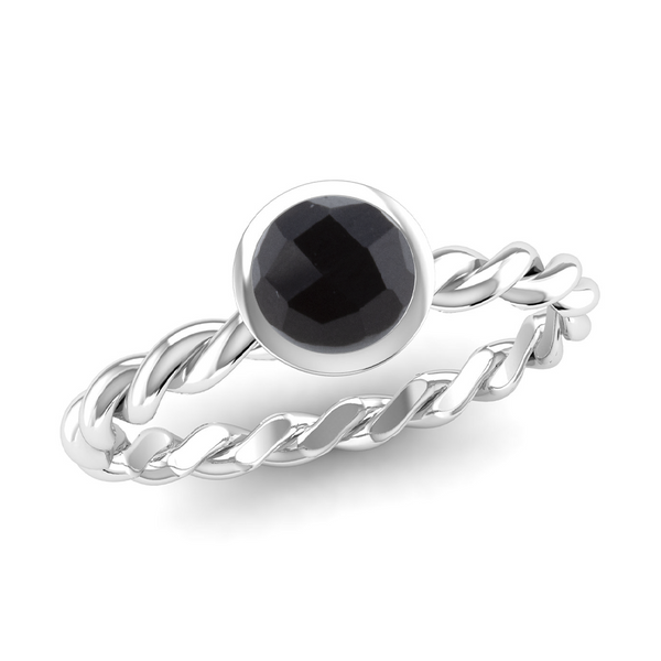 DREAM Twist Stacking Ring in Fairtrade White Gold, Jeweller's Loupe Hope Collection