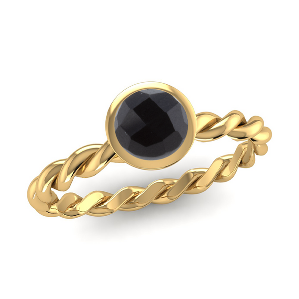 Fairtrade Gold DREAM Onyx Stacking Ring - Jeweller's Loupe