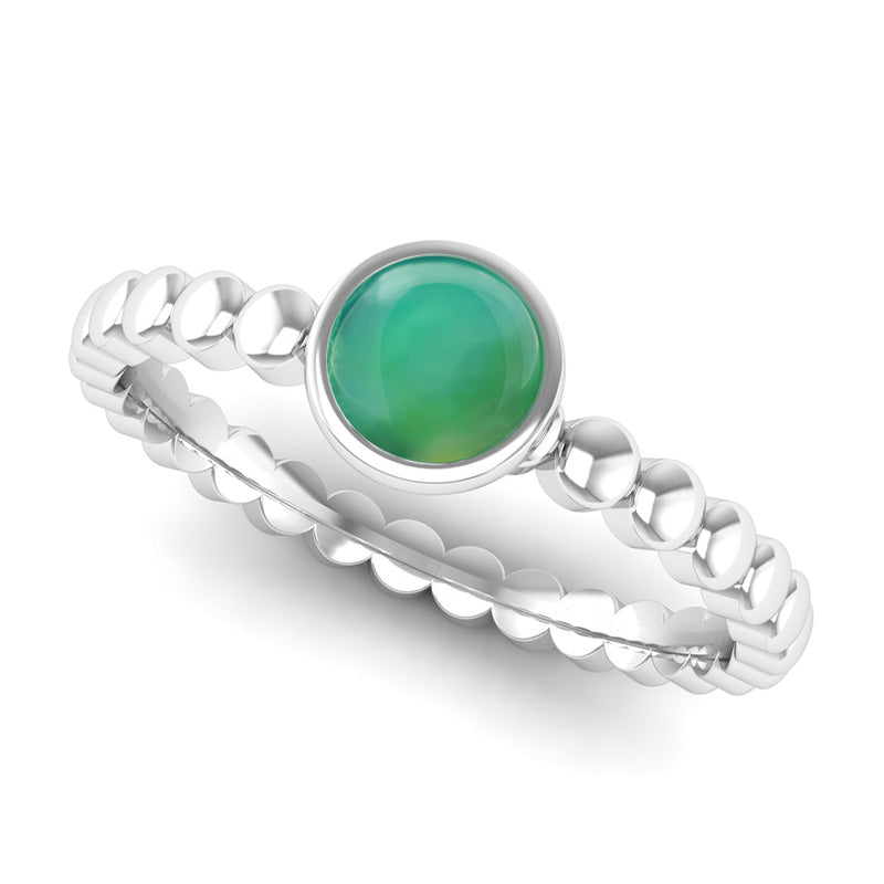 Ethically-sourced Platinum FAITH Agate Stacking Ring - Jeweller's Loupe