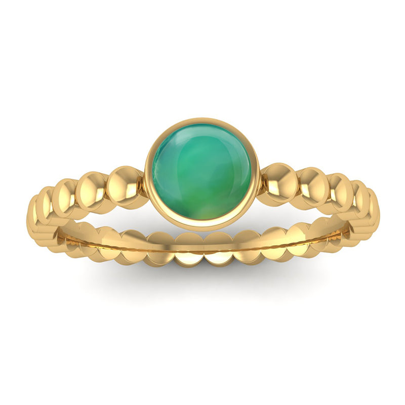 Fairtrade Gold FAITH Agate Stacking Ring - Jeweller's Loupe
