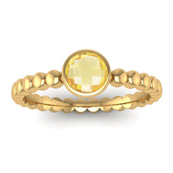 Fairtrade Gold FAITH Citrine Stacking Ring - Jeweller's Loupe