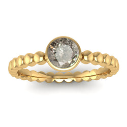 Fairtrade Gold FAITH Salt and Pepper Diamond Stacking Ring - Jeweller's Loupe