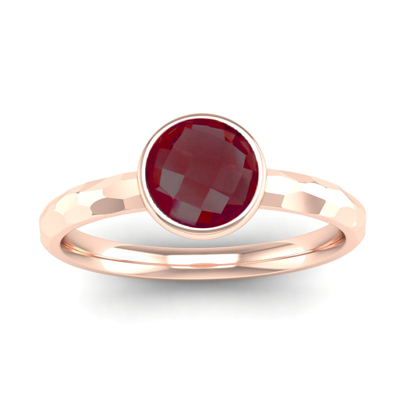 Fairtrade Rose Gold JOY Garnet Stacking Ring (available now) - Jeweller's Loupe