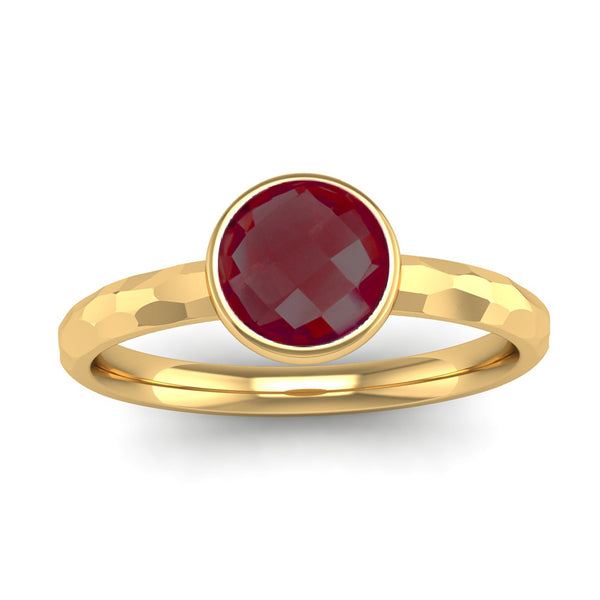Fairtrade Gold JOY Garnet Stacking Ring - Jeweller's Loupe