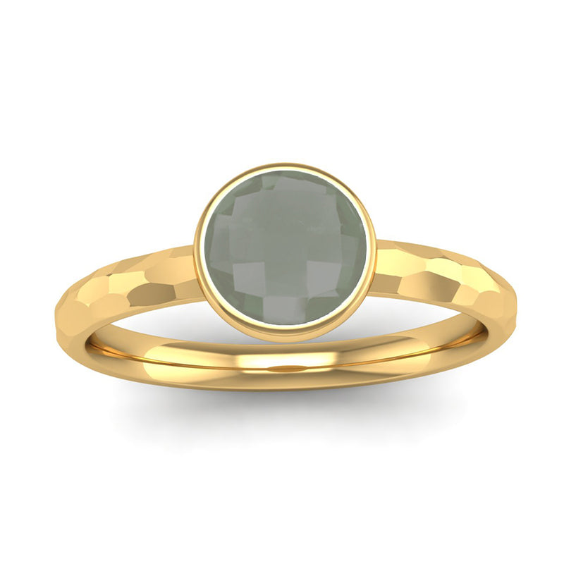 Fairtrade Gold JOY Green Amethyst Stacking Ring - Jeweller's Loupe