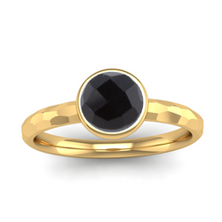 Fairtrade Gold JOY Onyx Stacking Ring - Jeweller's Loupe