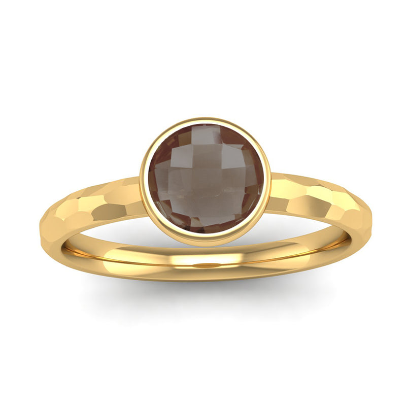 Fairtrade Gold JOY Smoky Quartz Stacking Ring - Jeweller's Loupe