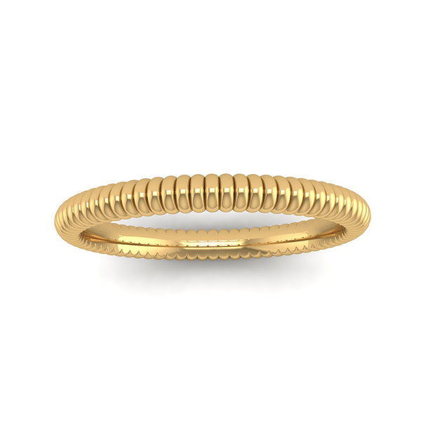 Fairtrade Yellow Gold PROMISE Bobble Stacking Ring (available now) - Jeweller's Loupe