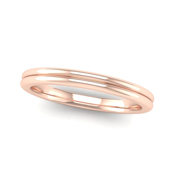 Fairtrade Rose Gold TRUST Double Band Stacking Ring
