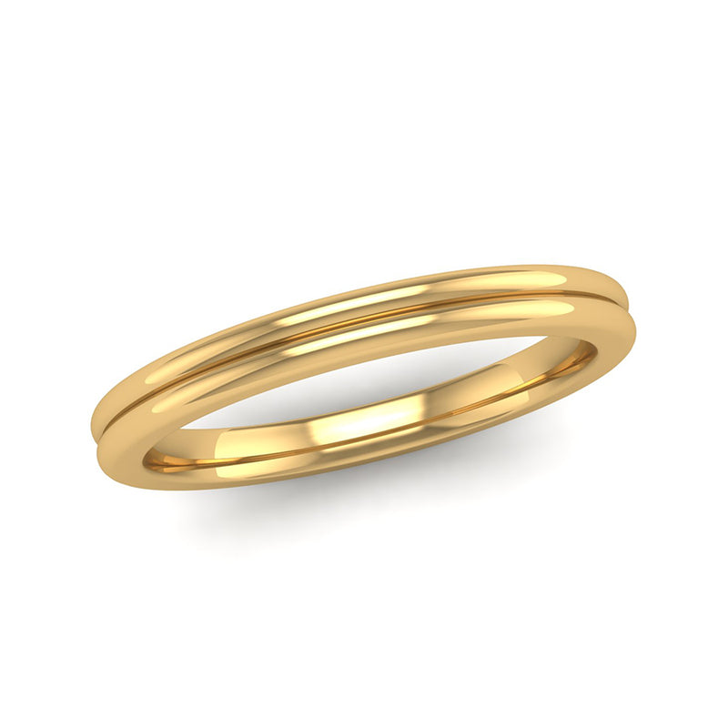 Fairtrade Gold TRUST Double Band Stacking Ring - Jeweller's Loupe