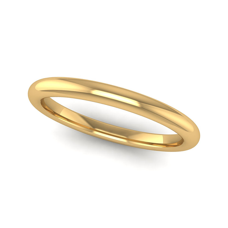 Fairtrade Gold BELIEVE Rounded Band Stacking Ring - Jeweller's Loupe