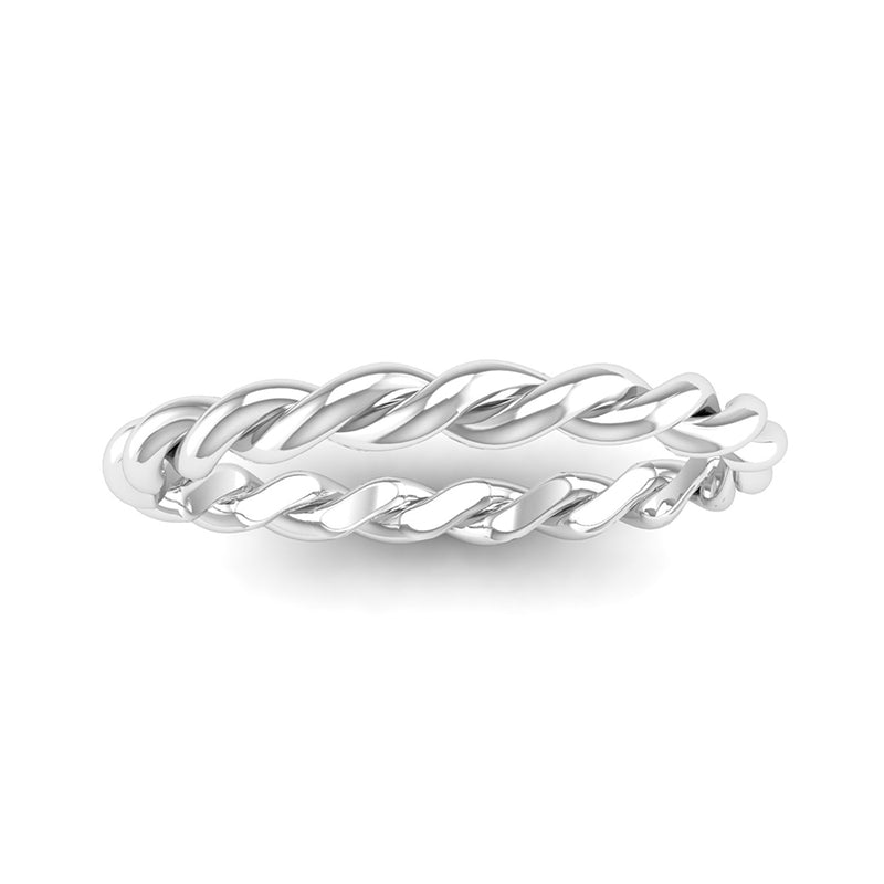 Ethically-sourced Platinum DREAM Twist Stacking Ring - Jeweller's Loupe