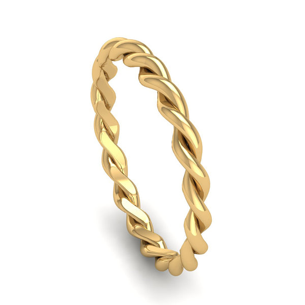 Fairtrade Gold DREAM Twist Stacking Ring - Jeweller's Loupe
