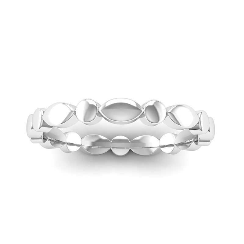 Fairtrade Silver WISH Scalloped Stacking Ring - Jeweller's Loupe