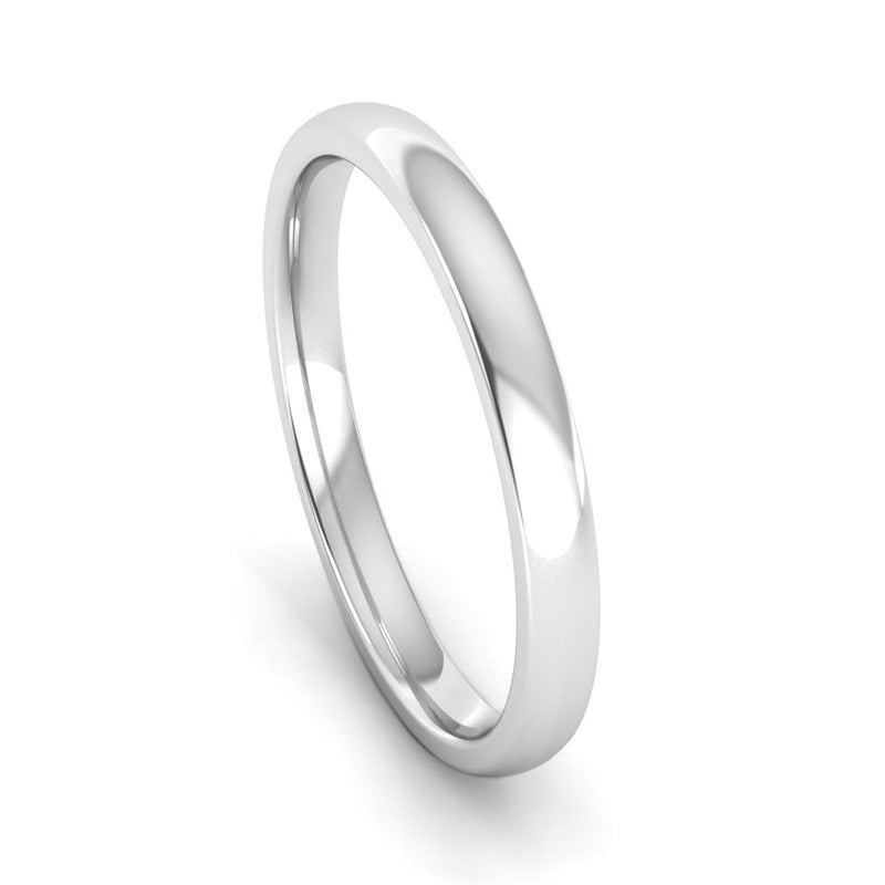 Ethically-sourced Platinum 2mm Traditional Court Wedding Ring - Jeweller's Loupe
