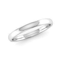 Fairtrade White Gold 2mm Traditional Court Wedding Ring - Jeweller's Loupe