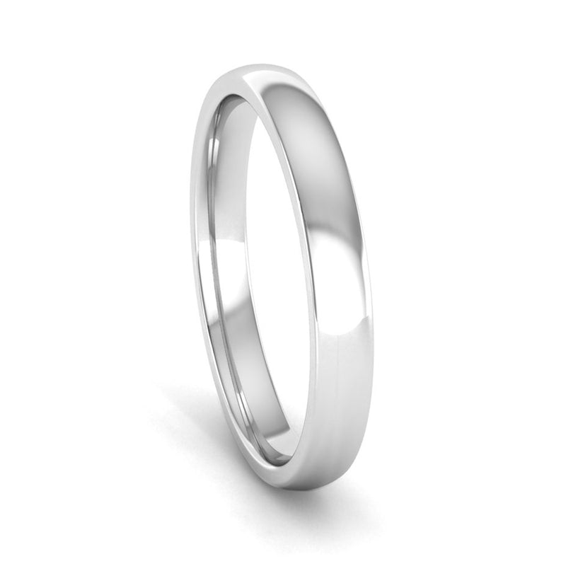 Ethically-sourced Platinum 2.5mm Traditional Court Wedding Ring - Jeweller's Loupe