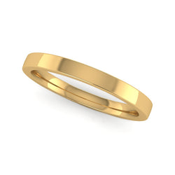 Fairtrade Yellow Gold 2mm Flat Court Wedding Ring - Jeweller's Loupe