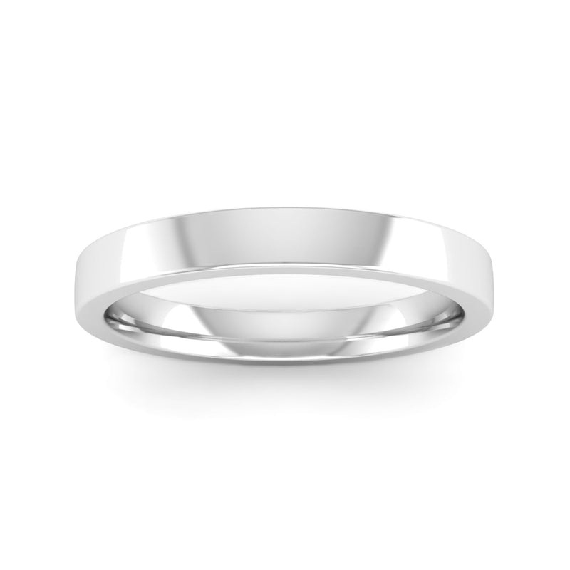Ethically-sourced Platinum 2.5mm Flat Court Wedding Ring - Jeweller's Loupe