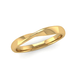 Fairtrade Yellow Gold Twisted Wedding Ring - Jeweller's Loupe
