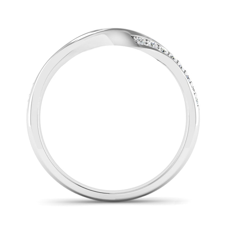 Ethically-sourced Platinum Diamond Set Twisted Eternity Ring - Jeweller's Loupe