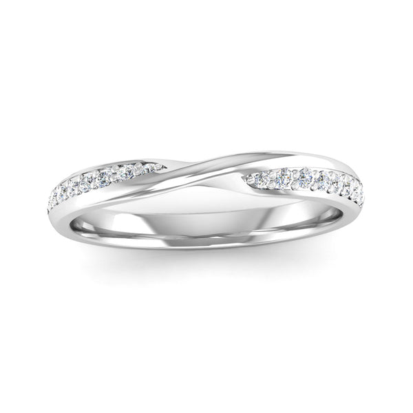 Diamond Set Twisted Eternity Ring - Jeweller's Loupe