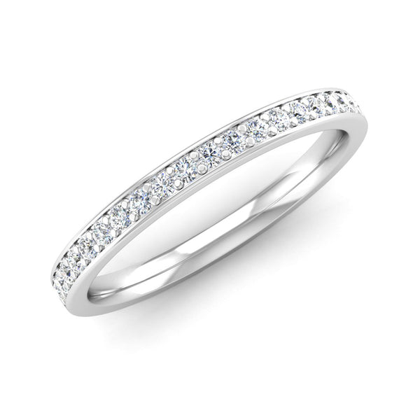 Grain Set Diamond Wedding Ring with Border - Jeweller's Loupe
