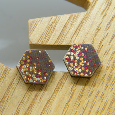 Apple Cider Stud Earrings