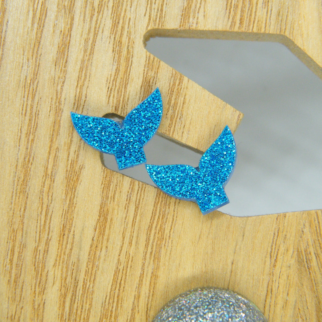 Mermaid tail stud earrings