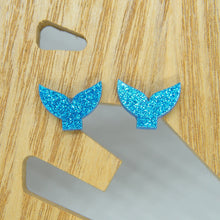 Load image into Gallery viewer, Mermaid tail stud earrings