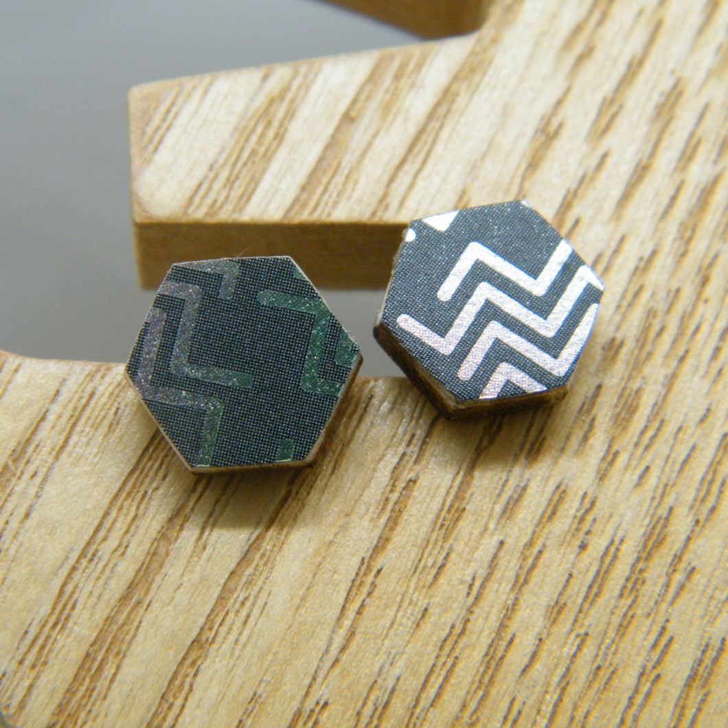 Broken Arrow Stud Earrings