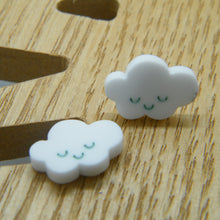 Load image into Gallery viewer, White cloud stud earrings