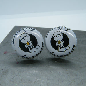 Beer bottle cufflinks - Õllenaut Suitsu Porter