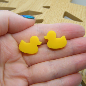 Duck stud earrings