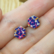 Load image into Gallery viewer, Funky Cheetah stud earrings