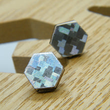Load image into Gallery viewer, Holographic stud earrings