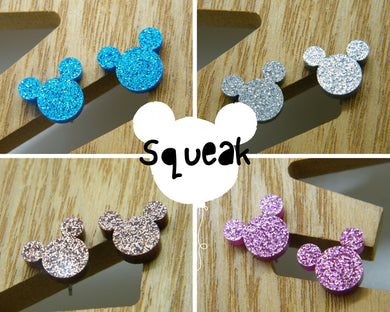 Mickey mouse studs (multiple colours available)