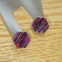 Load image into Gallery viewer, New York Stripe Stud Earring