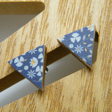 Load image into Gallery viewer, Perennial Blue stud earrings